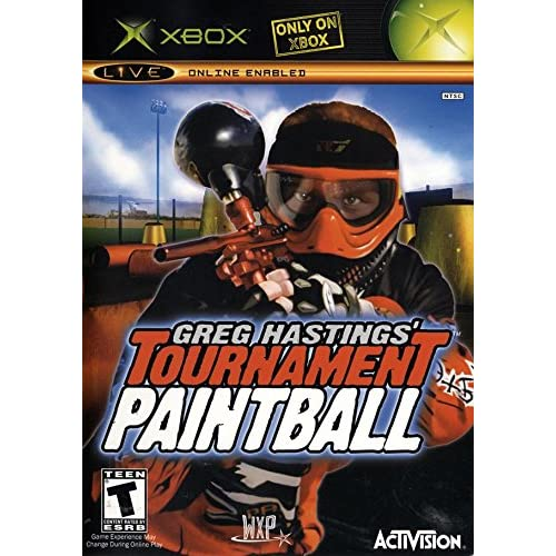Greg Hastings' Tournament Paintball Xbox For Xbox Original With Manual