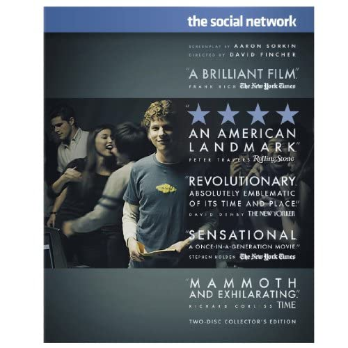Image 0 of The Social Network Two-Disc Edition Blu-Ray On Blu-Ray With Jesse Eisenberg 2 Co