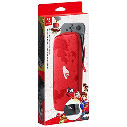 Nintendo Switch Carrying Case And Screen Protector Mario Odyssey Edition Red Gam