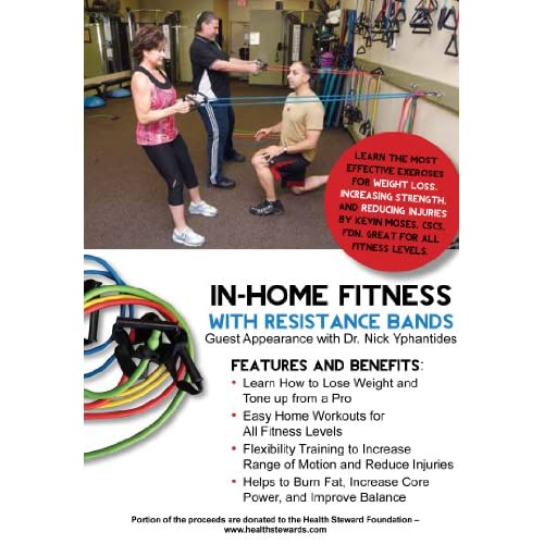 In home fitness with resistance bands lose weight burn