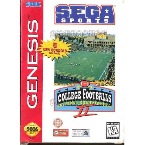 College Football's National Championship II For Sega Genesis Vintage