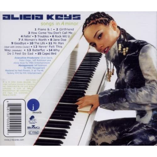 Image 3 of Songs In A Minor By Alicia Keys On Audio CD Album 2001