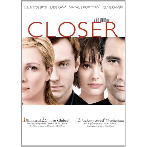 Image 0 of Closer On DVD With Clive Owen Drama