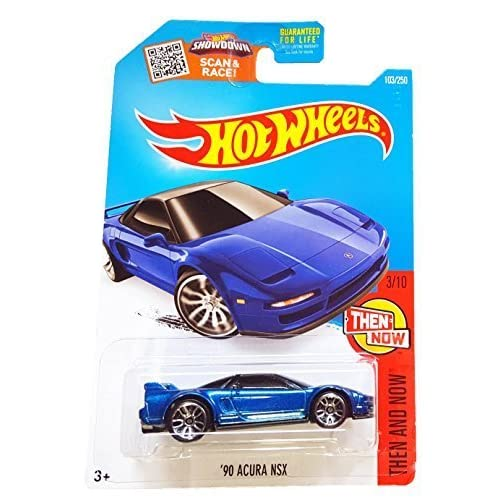 Hot Wheels 103/250 2016 Then And Now 3/10 '90 Acura Nsx By Mattel Toy Blue