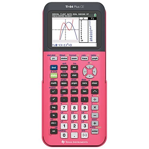 Texas Instruments TI-84 Plus Ce Graphing Calculator Count On Coral