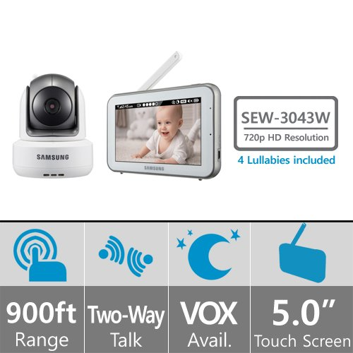 SEW-3043W Samsung Wisenet Brightview HD Baby Video Monitoring System
