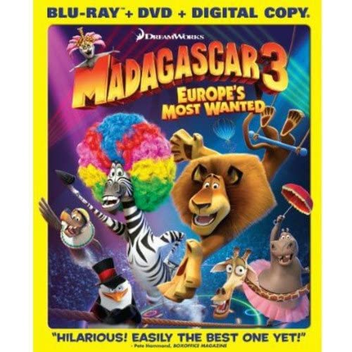 Madagascar 3: Europe's Most Wanted Blu-Ray/dvd Combo On Blu-Ray With Ben Stiller