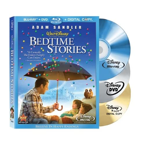 Bedtime Stories Blu-Ray DVD On Blu-Ray With Adam Sandler Disney