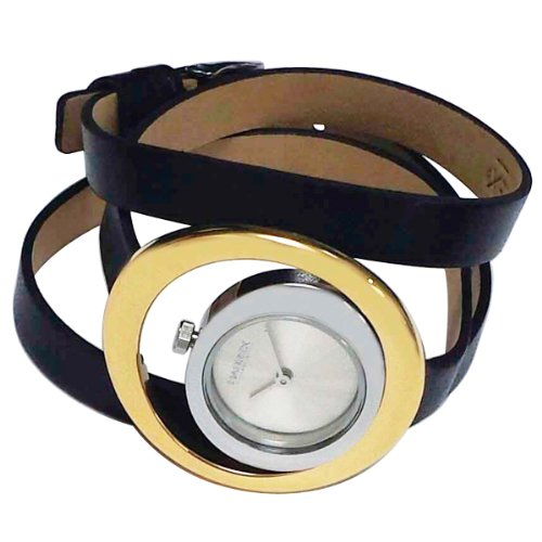 Image 0 of Haurex Italy Women's FG392DS1 Virgo Silver And Gold Tone Case Leather Watch