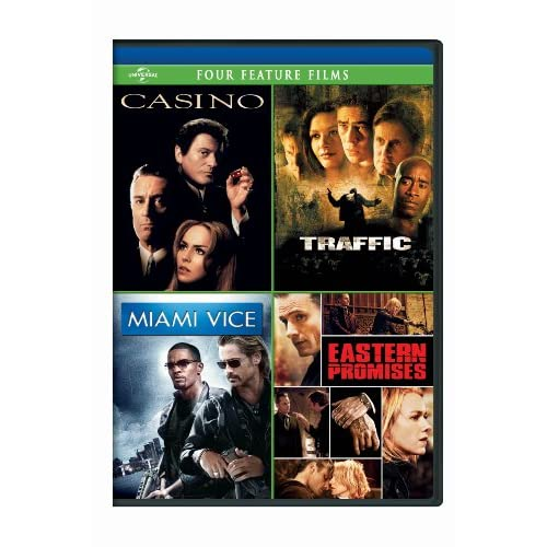 Image 0 of Casino / Traffic / Miami Vice / Eastern Promises Four Feature Films On DVD With