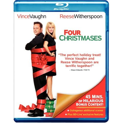 Image 0 of Four Christmases Blu-Ray On Blu-Ray With Vince Vaughn 4 Comedy
