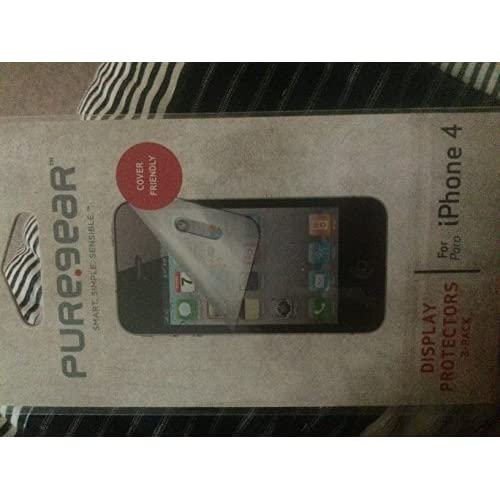 Image 1 of Puregear 3PACK Display Protectors iPhone 4/4S Case Cover Screen