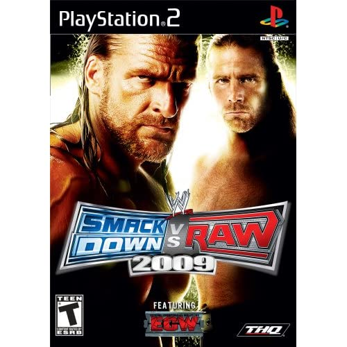 WWE Smackdown Vs Raw 2009 For PlayStation 2 PS2 Wrestling