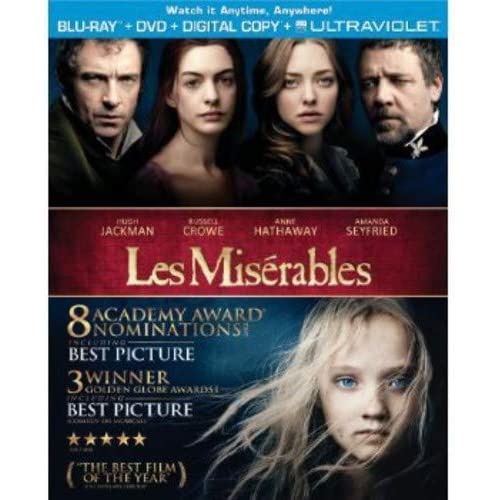 Les Miserables 2012 Blu-Ray On Blu-Ray With Hugh Jackman Drama