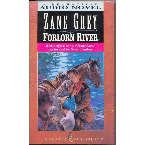 Image 0 of Forlorn River With Original Song Young Love By Zane Grey On Audio Cassette Gray