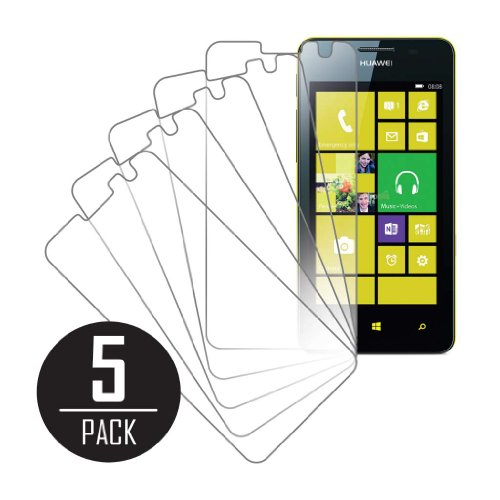 Ascend W2 Screen Protector Cover Mpero Collection 5 Pack Of Clear