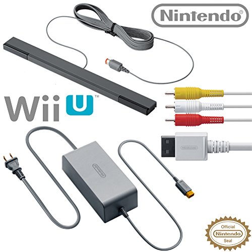 Image 0 of Nintendo Wii U Accessory Kit AC Adapter WUP-002 AV Cable RVL-009 And Sensor Bar
