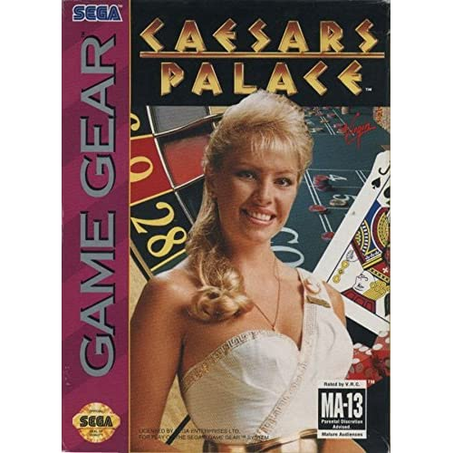 Caesar's Palace For Sega Game Gear Vintage