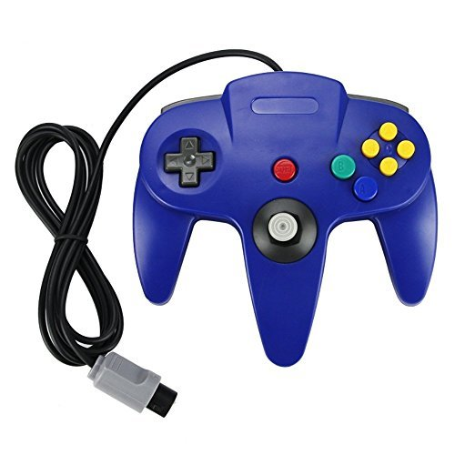 Generic Blue Long Handle Controller Pad Joystick For Nintendo 64 System Gamepad