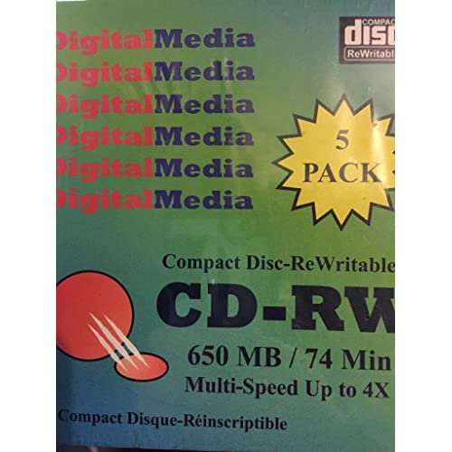 Image 0 of Sti 5-pack Of 74-MINUTE CD-RW Discs CDRW5 YJR152