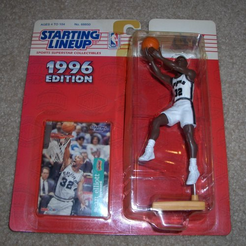 1996 Sean Elliot NBA Starting Lineup Toy Basketball