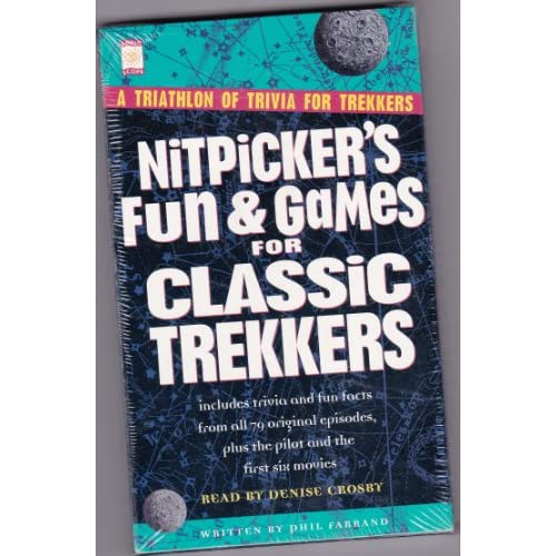Image 0 of Nitpicker's Fun And Games For Classic Trekkers By Farrand Phil Crosby Denise Nar