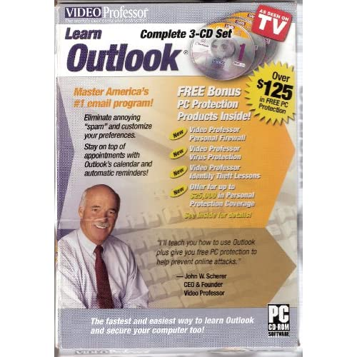 Image 0 of Video Professor: Learn Outlook 3-CD Set Software Office