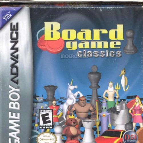 Board Game Classics Chess Checkers Backgammon For GBA Gameboy Advance Arcade