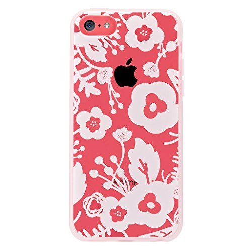 Agent 18 iPhone 5C Shockslim White Flowers Case Cover Multi-Color Fitted