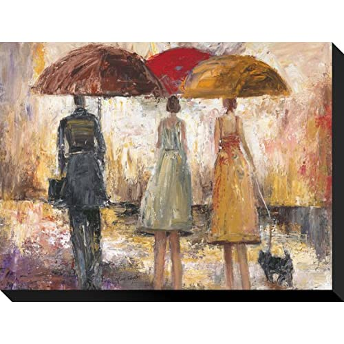 Artcom Spring Showers 1 By Marc Taylor Stretched Canvas Print 16 H