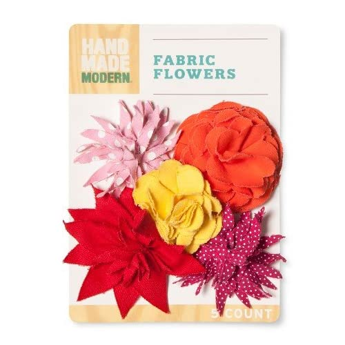 Hand Made Modern Canvas Fabric Flowers Warm Colors