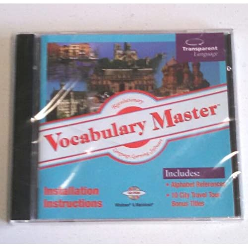 Image 0 of Vocabulary Master Cd-Rom Windows & MAC Installations Includes Alphabet Reference