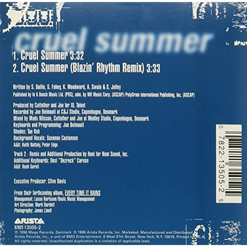 Image 3 of Cruel Summer By Ace Of Base On Audio CD Album 1998