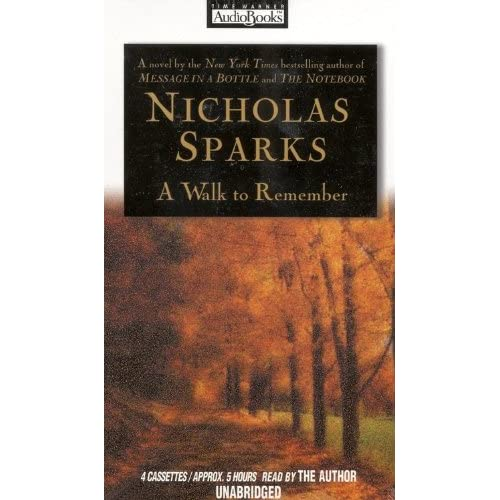 Image 0 of A Walk To Remember By Nicholas Sparks And Nicholas Sparks Reader On Audio Casset