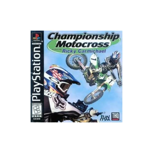 Championship Motocross For PlayStation 1 PS1 Racing With Manual and Case