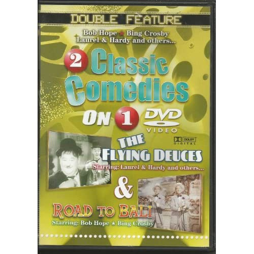 2 Classic Comedies: The Flying Deuces & Road To Bali On DVD with Stan Laurel Com