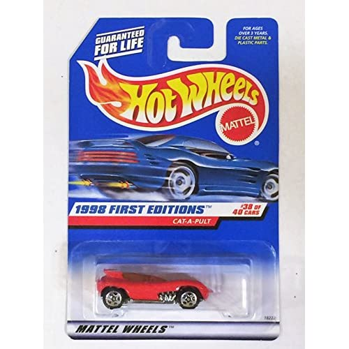 Hot Wheels Cat-A-Pult 1998 First Editions #38 5 Spoke/red Logo Toy Red