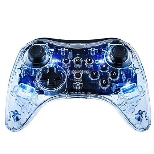 Afterglow Pro Controller For Wii U Clear 085-018-NA-BL