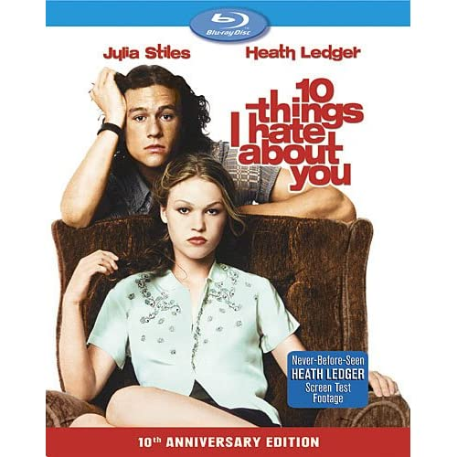 10 Things I Hate About You 10th Anniversary Edition Blu-Ray On Blu-Ray With Heat
