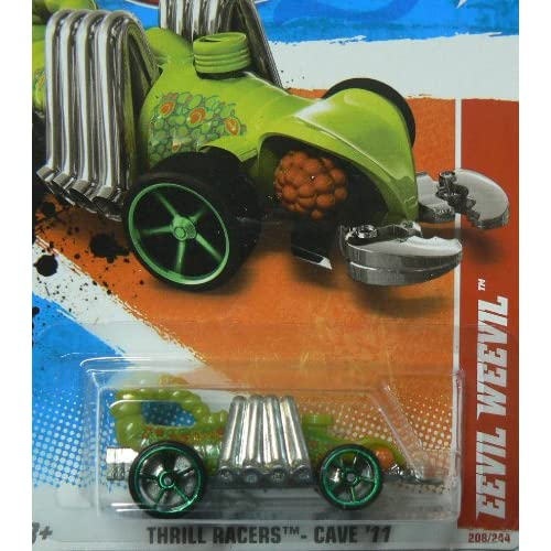 Hot Wheels Eevil Weevil Thrill Racers Cave '11 Die Cast Car 208/244 Green Toy