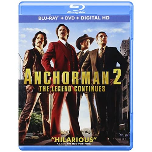 Image 0 of Anchorman 2: The Legend Continues Digital HD On Blu-Ray With Will Ferrell Comedy
