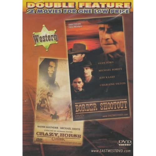Image 0 of Border Shootout / Crazy Horse And Custer Slim Case On DVD With Glen Ford