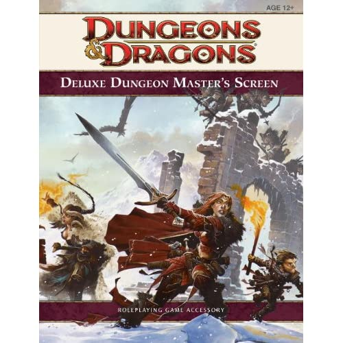Image 0 of Deluxe Dungeon Master's Screen 4th Edition D&d Strategy Guide