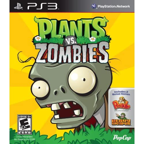 Plants Vs Zombies For PlayStation 3 PS3
