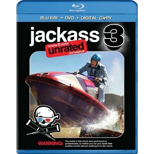 Image 0 of Jackass 3 Two-Disc Anaglyph 3D On Blu-Ray With Johnny Knoxville 2 Comedy