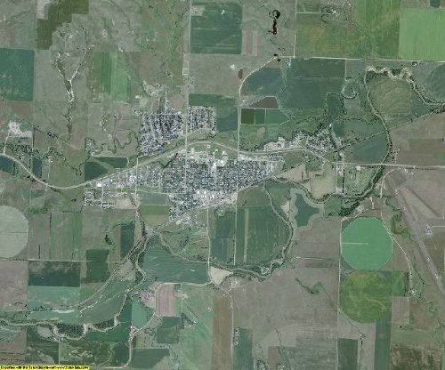 Mercer County North Dakota Aerial Photography on CD