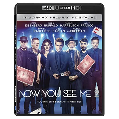 Image 0 of Now You See Me 2 4K Ultra HD Digital HD On Blu-Ray With Morgan Freeman
