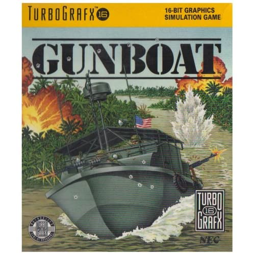 Gunboat For Turbo Grafx 16 Vintage Shooter