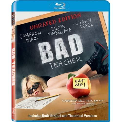 Bad Teacher Unrated Edition Blu-Ray On Blu-Ray With Cameron Diaz Comedy