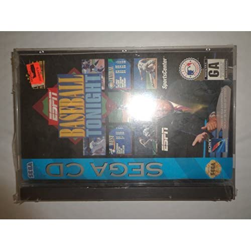 ESPN Baseball Tonight For Sega CD With Manual and Case